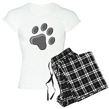 Grey Cat Paw Print Pajamas
