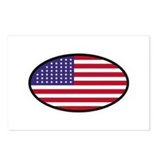 Star Spangled Oval Postcards (Package of 8)