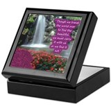 Beautiful Waterfall With Emerson Quote Tile Box
