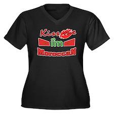 Kiss me i'm Moroccan Women's Plus Size V-Neck Dark