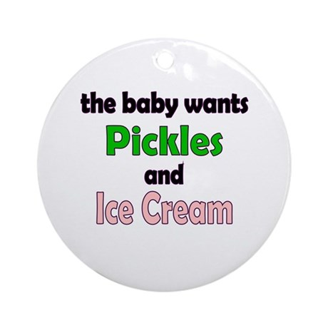 Pickles and Ice Cream Ornament (Round)