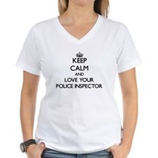 Keep Calm and Love your Police Inspector T-Shirt