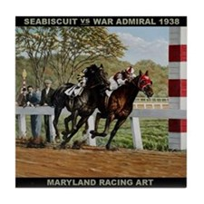 Seabiscuit Vs Waradmiral Tile Coaster