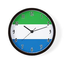 Flag of Sierra Leone Wall Clock