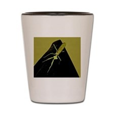 Shot Glass:large Mantis Smiling Up At You