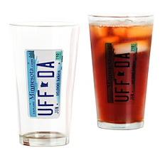 Uffda Minnesota License Plate Drinking Glass