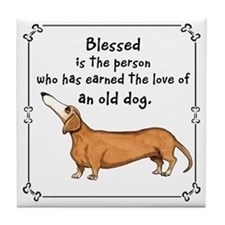 Old Dachshunds Tile Coaster