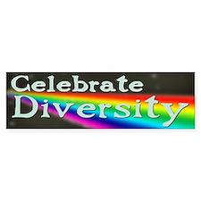 celebrateDiversity-drk Bumper Bumper Sticker