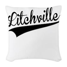 Litchville, Retro, Woven Throw Pillow