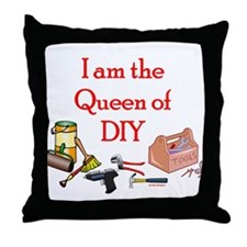 Queen of D.I.Y. Throw Pillow