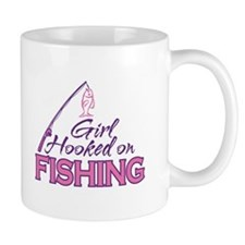 Girl Hooked On Fishing Mug