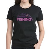 Girl Hooked On Fishing Tee