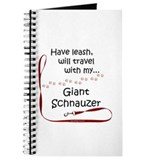 Giant Schnauzer Travel Leash Journal