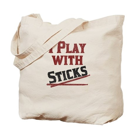 I Play With Sticks Tote Bag