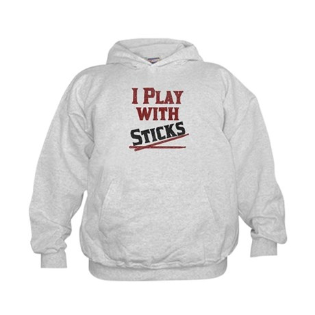 I Play With Sticks Kids Hoodie
