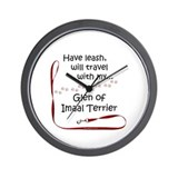 Glen of Imaal Travel Leash Wall Clock