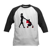woman with a baby in a barrow Baseball Jersey