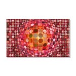 Optical Illusion Sphere - Pink Car Magnet 20 x 12