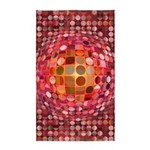 Optical Illusion Sphere - Pink 3'x5' Area Rug