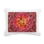 Optical Illusion Sphere - Pink Rectangular Canvas