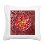 Optical Illusion Sphere - Pink Square Canvas Pillo