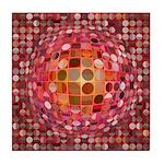 Optical Illusion Sphere - Pink Tile Coaster