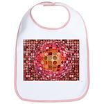 Optical Illusion Sphere - Pink Bib