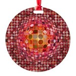 Optical Illusion Sphere - Pink Ornament