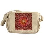 Optical Illusion Sphere - Pink Messenger Bag