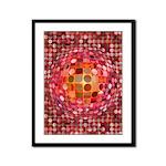 Optical Illusion Sphere - Pink Framed Panel Print