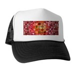 Optical Illusion Sphere - Pink Trucker Hat