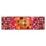 Optical Illusion Sphere - Pink Bumper Sticker