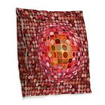 Optical Illusion Sphere - Pink Burlap Throw Pillow
