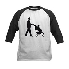 man with a baby in a barrow Baseball Jersey