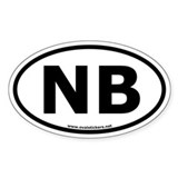 NB Oval Bumper Decal