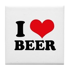 I Heart Beer Tile Coaster
