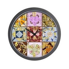 Harvest Moons Quilts Wall Clock