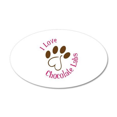 i love chocolate labs Wall Decal