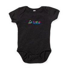 Jelly Bean Train Baby Bodysuit