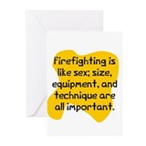Firefighter birthday Greeting Cards (20 Pack)