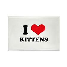 I Heart Kittens Rectangle Magnet