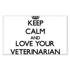 Keep Calm and Love your Veterinarian Decal