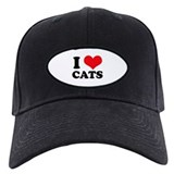 I Heart Cats Baseball Cap