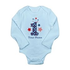 Firecracker 1st Birthd Long Sleeve Infant Bodysuit