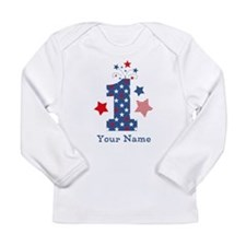 Firecracker 1st Birthda Long Sleeve Infant T-Shirt