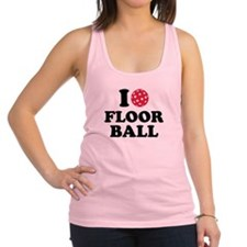 I love Floorball Racerback Tank Top