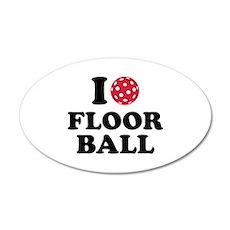 I love Floorball 20x12 Oval Wall Decal