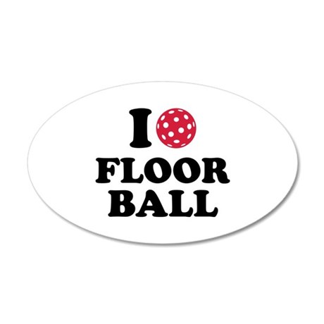 I love Floorball 35x21 Oval Wall Decal