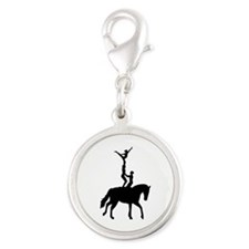 Vaulting dressage Silver Round Charm