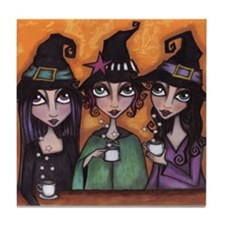 The Witches Tea Party Tile Coaster